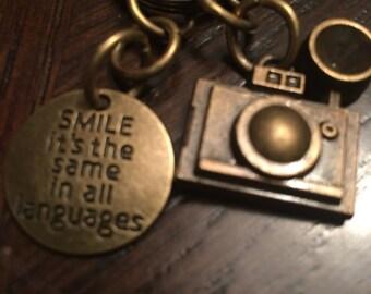 Smile! Camera keychain.