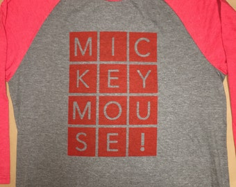 M-I-C-K-E-Y (Red) - Adult
