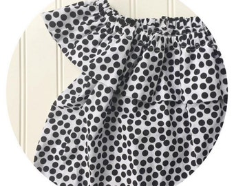 polka dotted little lady top