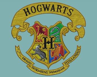 Embroidery design-Embroidery design: coat of arms of Hogwarts-Hogwarts crest