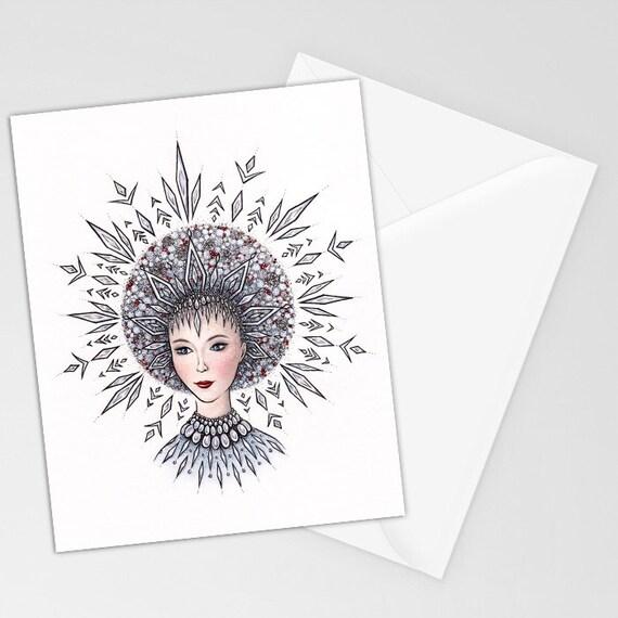 Snegurochka Snow Maiden | Miniature Postcard Art Print