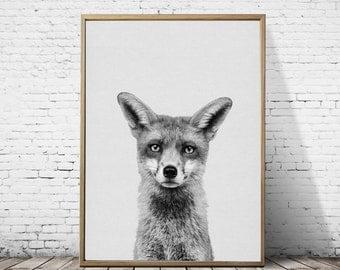 Fox Wall Art fox animal wall art fox poster woodland fox woodland poster