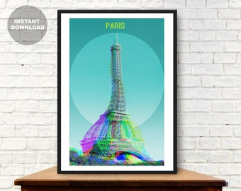 Eiffel tower print, Paris print, Eiffel tower decor, Eiffel tower art, Paris poster, Paris art, Modern art, Paris wall art, Paris photo