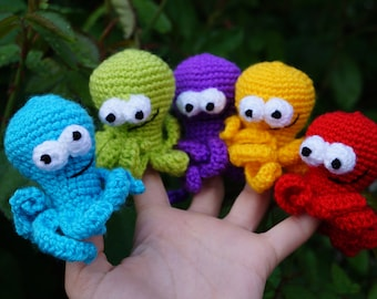 Baby shower gift for children nursery gift stuffed sea animal waldorf montessori travel sea toy octopus sea party favor sea animal Crochet