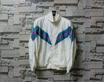 Vintage san francisco windbreaker baywear zip up cross color multicolor hipster sportwear adidas windbreaker nike windbreaker