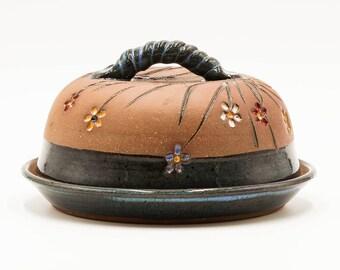 Flower Butter Dish | Pottery | Ceramic | Stoneware | Pottery Butter Dish | Ceramic Butter Dish | Stoneware Butter Dish | Handmade Pottery