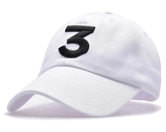 White chance 3  chance the rapper embroidered hat