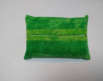Spring green pocket tissue holder - pocket tissue pouch - travel tissue holder - travel tissue pouch - spring green light on dark