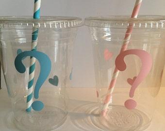 Pink or Blue Gender Reveal Cups