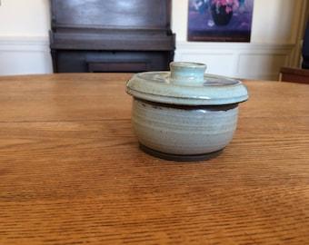 Rustic French Butter Crock Pottery- Ceramic Handmade Wheelthrown butter dish gift butter crock