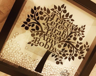 Family Tree Vinyl Frame