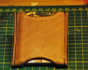leather card sleeve hand Stitched, wallet