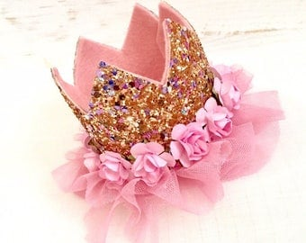 First birthday crown, 1st birthday, birthday crown, cake smash outfit,pink crown