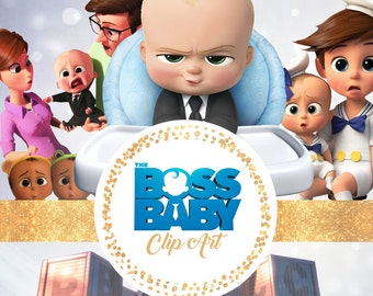 The Boss BABY Clipart - Digital 300 DPI PNG Images, Photos, Scrapbook, Digital, Cliparts - Instant Download
