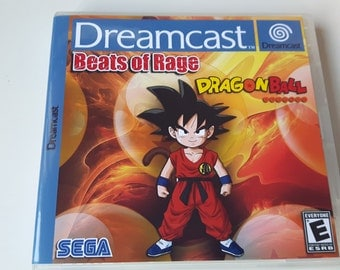 Dragon Ball Beats of Rage homebrew Sega Dreamcast game in custom case with labelled disc.