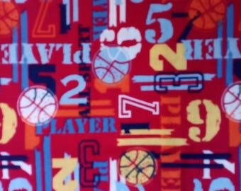 Child Fabric # 005 Basketball theme with FREE SHIPPING