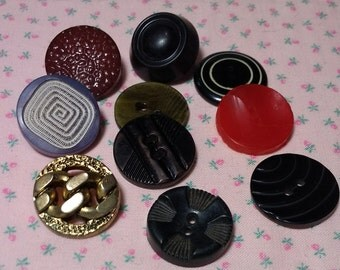 Assorted Vintage Plastic Buttons Lot #4