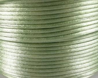 5 meter- 2 mm satin cord- mint