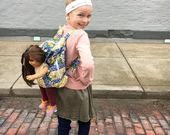 Doll Carrier - Plush Toy Backpack - American Girl  Carrier customizable