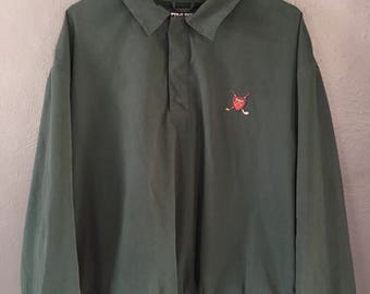 Polo Golf Pullover Quarter Zip Jacket Vintage 90s