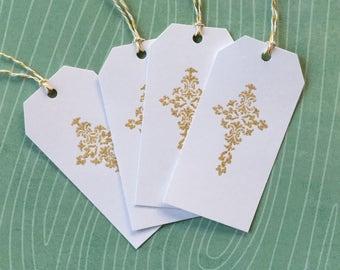 Gold Glitter Cross//Gift Tags//Set of 4//Easter//Baptism//Church