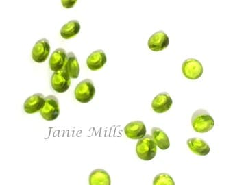 Peridot faceted gemstone 3mm round pkg of 4
