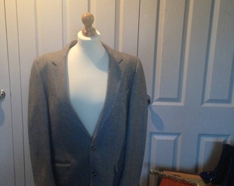 Vintage Mans Grey Jacket Blazer wedding cool style Father's Day