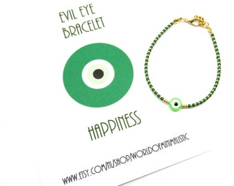 Evil eye minimalist bracelet, evil eye jewelry, dainty delicate bracelet, protection bracelet, sister gift, minimalist jewelry