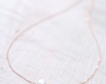 Simple Pearl Necklace.