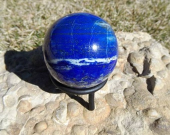Large High Quality Lapis Lazuli  Sphere from Afghanistan   56mm Crystal Sphere   Home Decor   Healing Crystal   Mineral Specimen #3