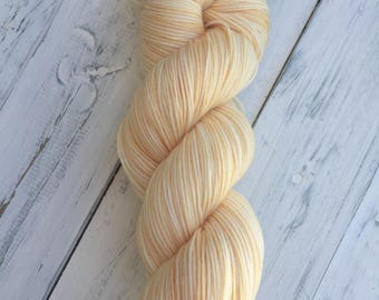Creamcicle - Fingering Sock with Stellina Hand Dyed Yarn