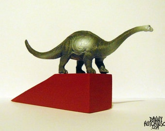 Brachiosaurus / Diplodocus Dinosaur Doorstop (Red) - Free UK P&P