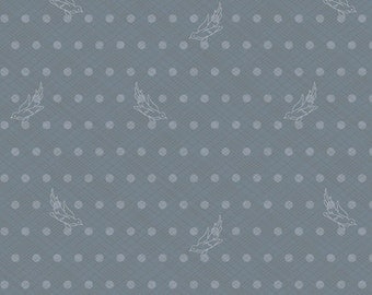 Seventy-Six by Alison Glass Woven in Pewter A-8447-C cotton fabric andover modern material quilting supplies grey white birds