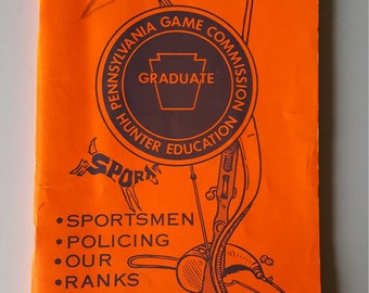 Pa Pennsylvania Game Commission  1980's Hunter Trapper Education Student Booklet