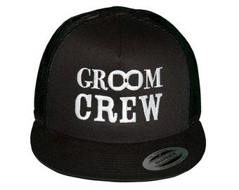 GROOM CREW Snap-Back Trucker Hat, Bachelor Party Hat, Bachelor Party Hats, Groom Hat, Groom Crew Hats, Hat for Bachelor Party, Snap Back Hat