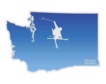 Washington Skiing Decal