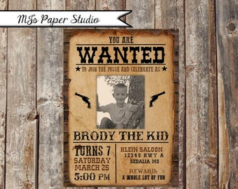 Western, Wanted Invitation