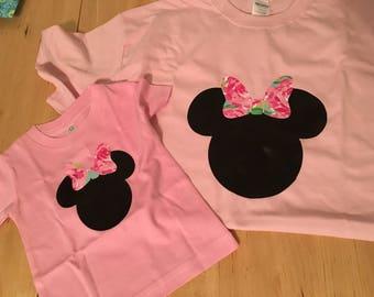 Floral Minnie tshirt, disney shirt, floral disney