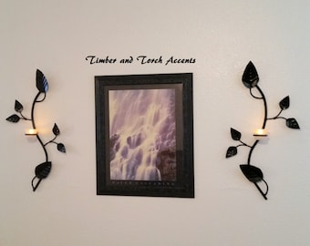 Candle Wall Art branch candle holder   etsy