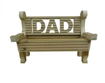 Wooden BENCH Planter Decking Wood Seat Garden Ornament