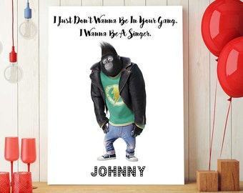 Sing Movie Printable Quotes, Johnny, Sing The Movie Poster, Sing Party Decor For Kids, Nursery Room Decorations, Sing Birthday
