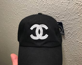 Double C's embroidered strapback cap