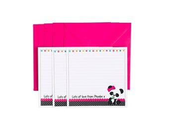 Personalised Panda Notecards