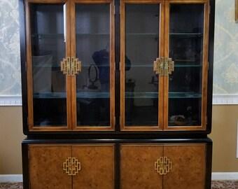 Century Furniture Raymond K Sobota Chin Hua Dining Room Breakfront China Cabinet c1979
