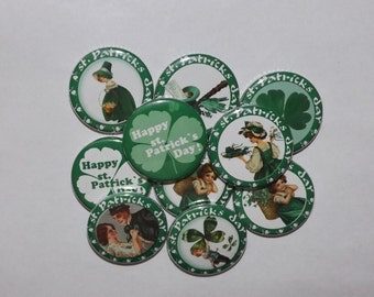 "Saint Patrick's Day 1.25""  Buttons.(set of 12)"