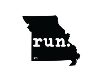 Run MO State Outline Magnet