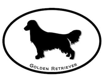 Golden Retriever Dog Decal