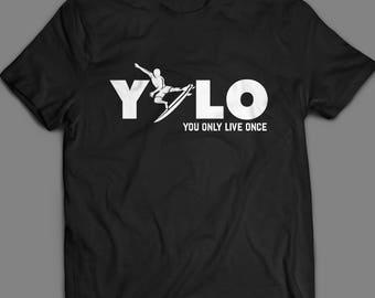 YOLO surf tshirt