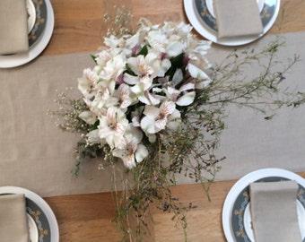 Beige Table Runner/Linen Table Runner/Table Linens