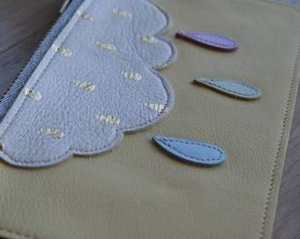 Pocket zippered in leather and the reasons cloud and drops in leather